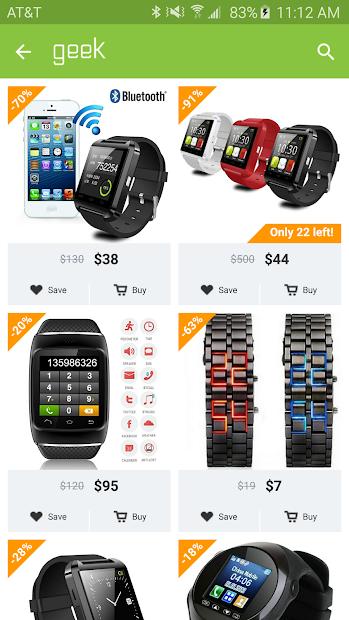 Geek - Smarter Shopping Android App Screenshot