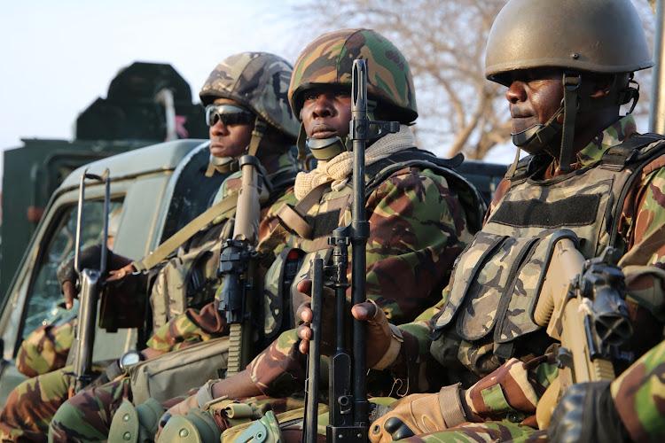 KDF troops under Amisom in Somalia