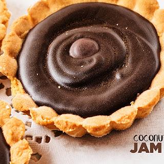 Coconut Chocolate Jam Tarts.