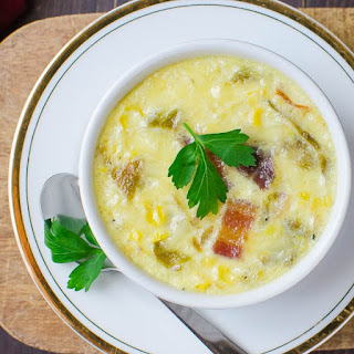 Bacon Green Chile Corn Pudding