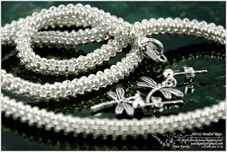 Photo: Silvery Beaded Rope - Сріблястий плетений джгут