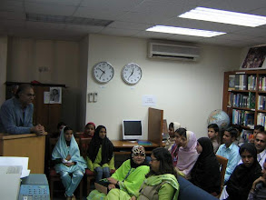 Photo: Students of Sindh Education Foundation at Speaker program Healthy Wetlands Healthy People at LC Karachi, Feb 02, 2008