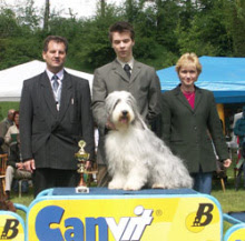 Photo: NAT Show Banska Bystrica/SK 1st place with ICh. Dea-Dro Kasiterit Mona judge: Mr. Zembjak/SK Saturday, May 8, 2004