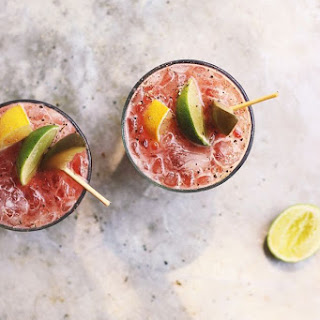 Fresh Heirloom Bloody Marys with Old Bay + Spicy Pickles for #drinkthesummer!