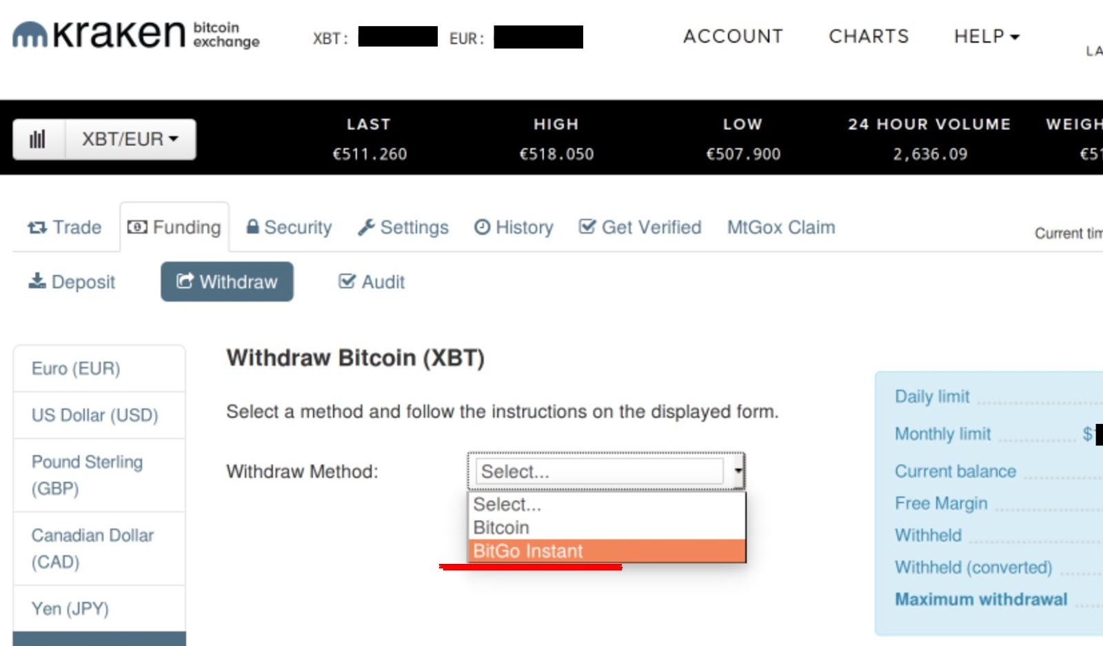 kraken bitcoin depozit