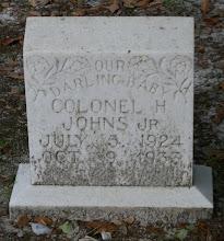 Photo: Colonel H Johns (Child) son of Colonel H Johns and Della Johns
