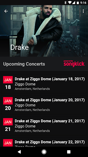Spoticon - Concert for Spotify Screenshot