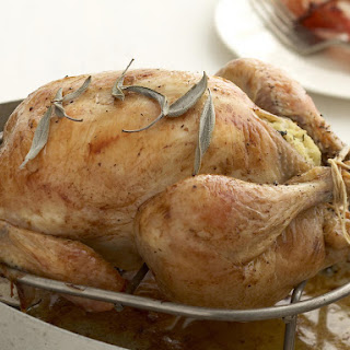Roasted Chicken with Lemon Stuffing