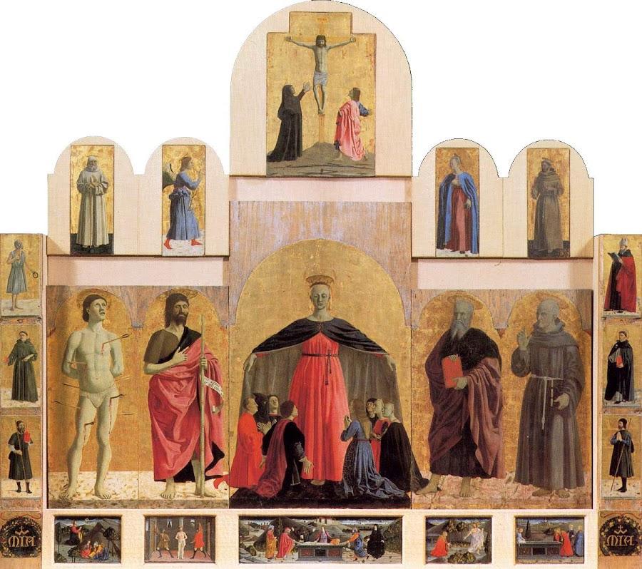 Piero della Francesca,Polittico della Misericordia,1444-1465, tecnica mista su tavola, 273 x 330 cm, Museo Civico, Sansepolcro
