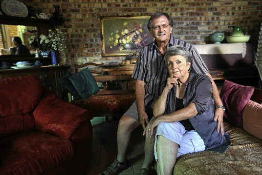 Johan and Maatje du Plessis, who were defrauded out of their retirement funds through Absa bank. Picture: JACKIE CLAUSEN