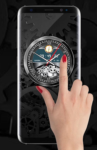 Luxury Watch Analog Clock Live Wallpaper Free 2018 2.3 screenshots 1