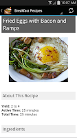 Screenshot of Quick and Easy Recipes