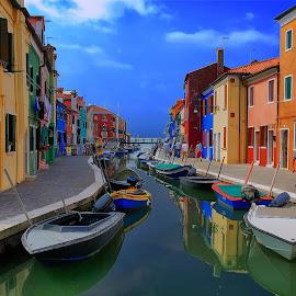 Burano-Italy by Janez Podnar - City,  Street & Park  Street Scenes