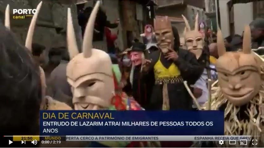 Vídeo - Carnaval de Lazarim atrai milhares de pessoas às ruas de Lamego