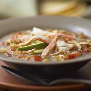 Alaska Snow Crab Tortilla Soup.