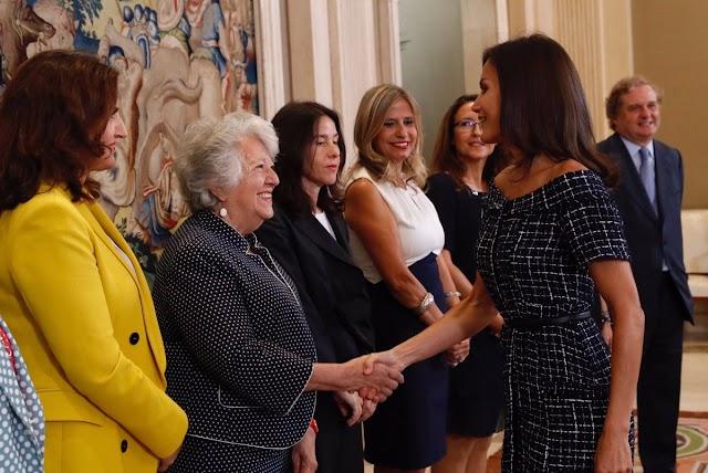 Imagen de la Casa Real de la audiencia de este martes de la reina Letizia.