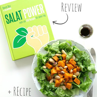 Roasted Sweet Potato, Lima Beans and Pistachio Salad + Salat Power Cookbook Review