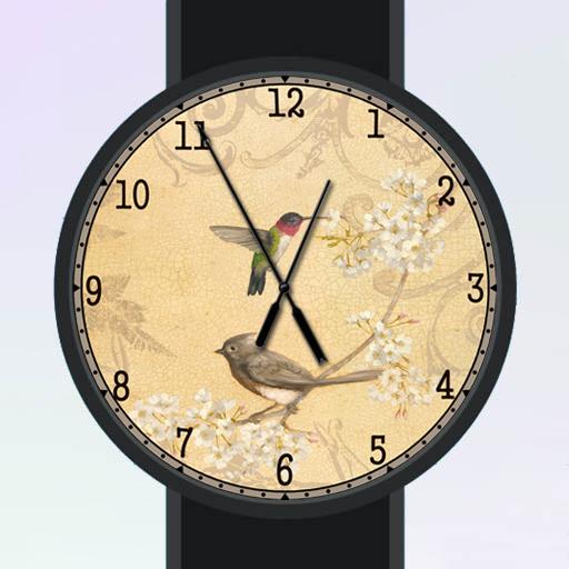 Bird and Flower Watch Face