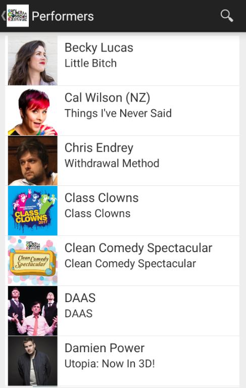 Canberra Comedy Festival- screenshot