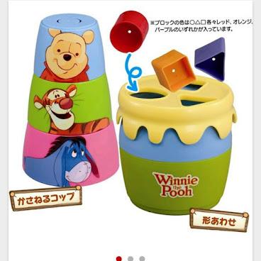 (日本直送)得意Winnie the Pooh積木