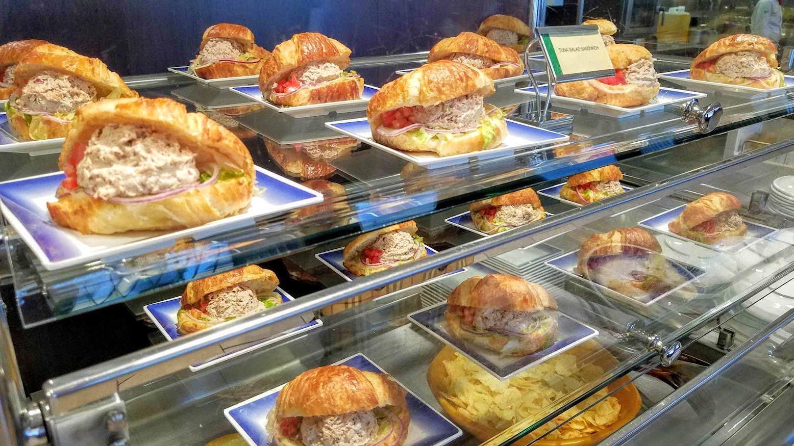 Tuna Sandwiches offered at The Garden Cafe lunch buffet.