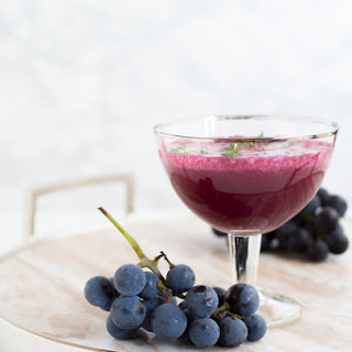 It's Concord Thyme (A Roasted Concord Grape Cocktail).
