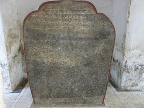 Photo: Here is one of the slabs.  They claim it is the world's largest book.