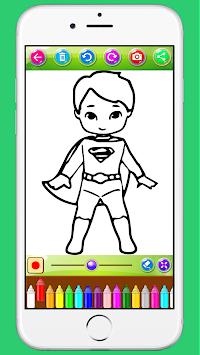 Yeni Boyama Oyunları Süper Kahraman çocuklar Hudapps Tarafından Apk