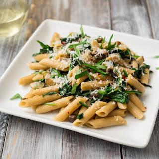 Mushroom Spinach Pasta.