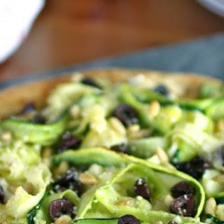 Zucchini Ribbon and Ricotta Pizza Recipe