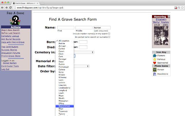 Ireland grave search