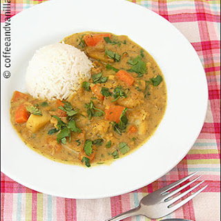 Quick White Fish Stew with Caribbean Curry & Coconut Milk.