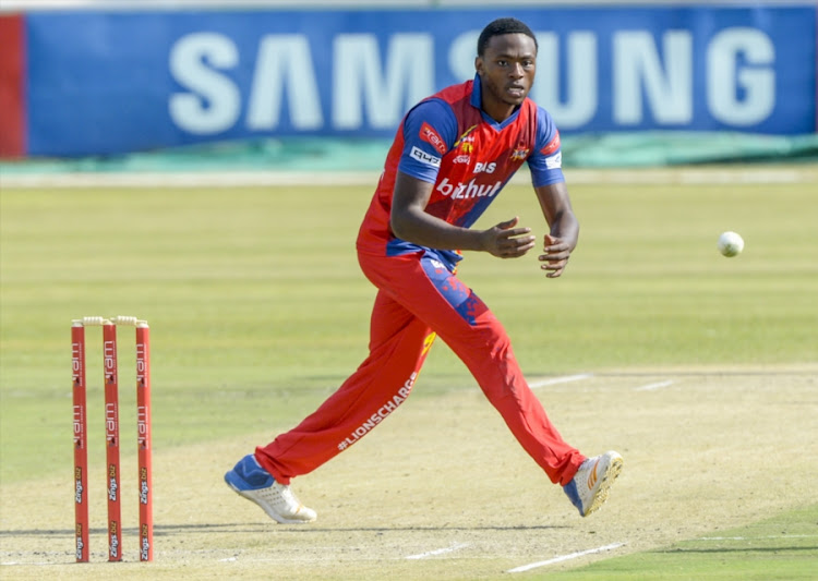 Kagiso Rabada of the Lions during the RAM SLAM T20 Challenge match between bizhub Highveld Lions and Hollywoodbets Dolphins at Senwes Park on November 19, 2017 in Potchefstroom, South Africa.