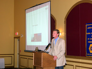 Photo: Jonathan Westeinde during his speech on LEED Building Design