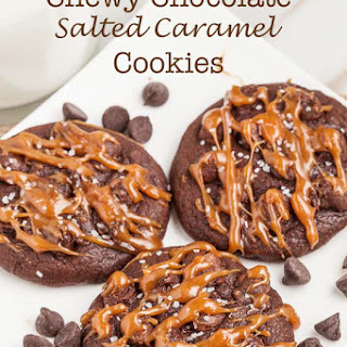 Chewy Chocolate Salted Caramel Cookies
