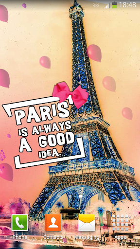 Cute Paris Live Wallpaper Screenshot 1 2