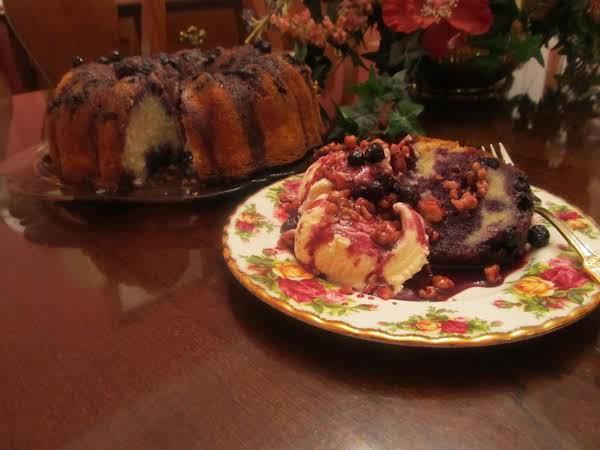 Jamie's Blueberry Bundt Cake With Sauce Recipe