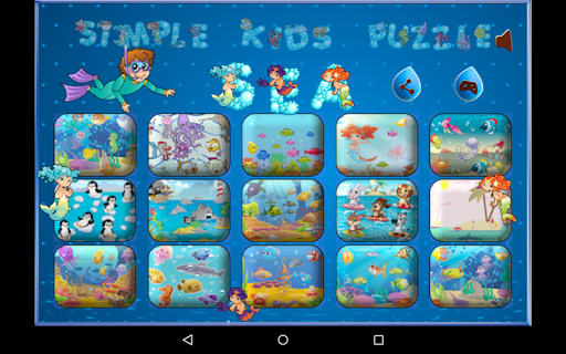 Simple Kids Puzzle - Sea
