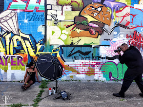 Photo: BTS from yesterday's graffiti shoot