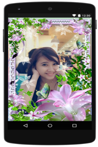 android Photo Frame Flower Screenshot 1