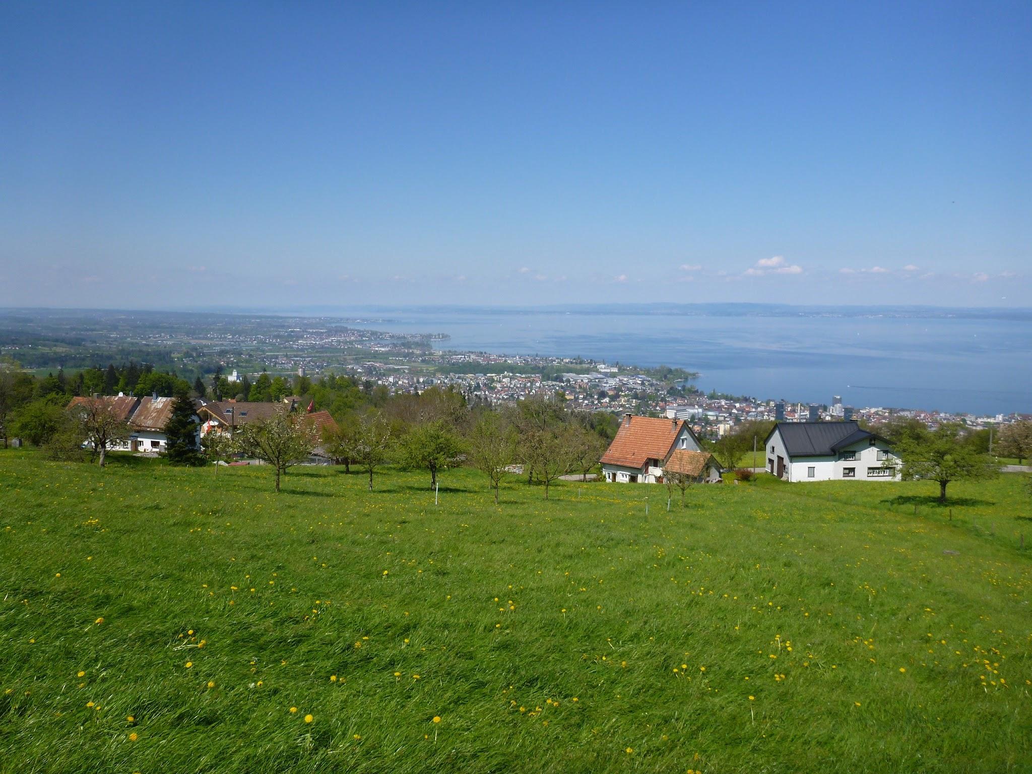 Photo: oberhalb Rorschach, nach W dann Horn, Steinach, Arbon und Romanshorn