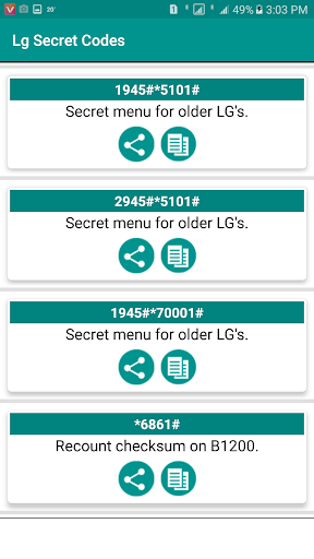 Secret Codes of LG 2019 Free App Report on Mobile Action - App Store