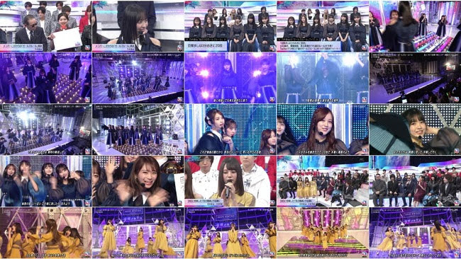 [TV-Variety] 乃木坂46 日向坂46 Part – Music Station (2019.10.18)