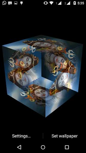 Shiv 3D cube live wallpaper