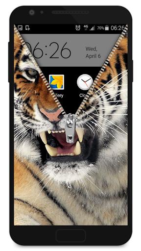 ジッパーロック画面の虎