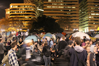 Photo: Occupy Oakland Camp on the Nov. 2, 2011 General Strike at Frank Ogawa Plaza on p. 112 of Oakland in Popular Memory. Photo by Joe Sciarrillo