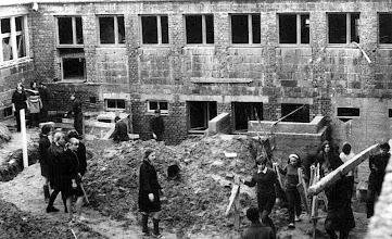 Photo: 1968 - internat w budowie