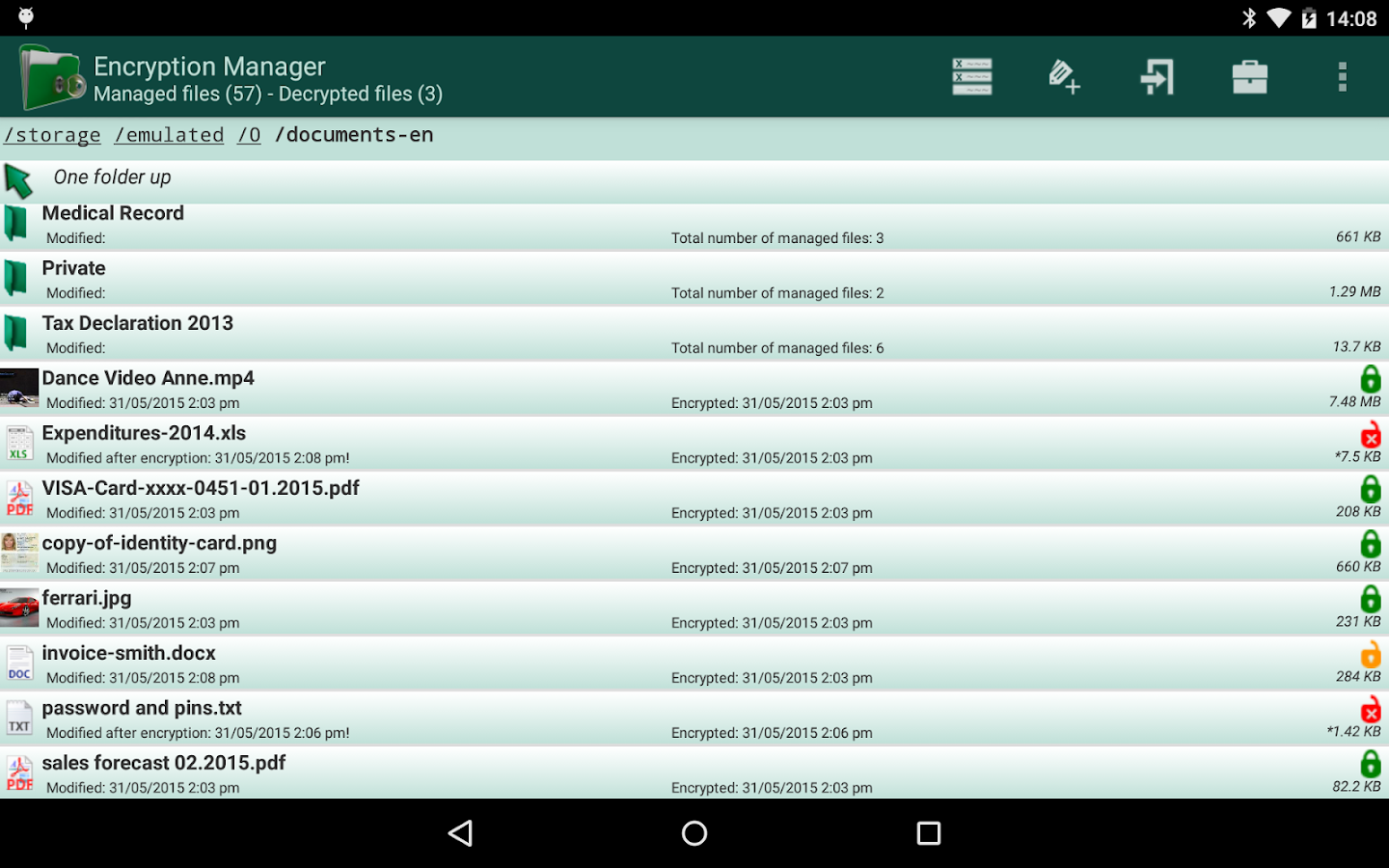 Encryption Manager- screenshot
