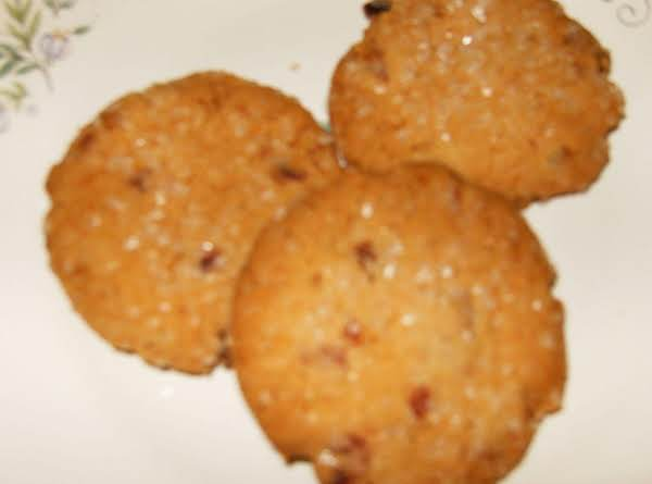 Super Simple Cranberry Sugar Cookies, Made With A Cranberry Orange Muffin Mix From Aldi.