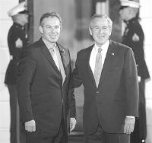 Tony Blair, UK President and George Bush, US President. © Uknown.